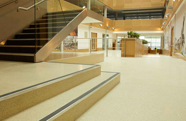 Mondéco floors are sustainable, cost effective and can last the lifetime of the building