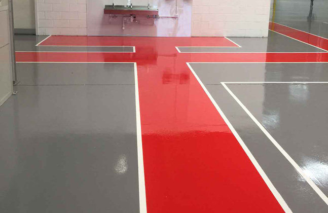 Chemical resistance and antistatic flooring properties are extremely useful in printing facilities